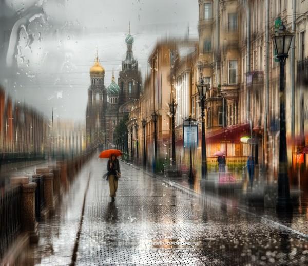 фотообои дождь: